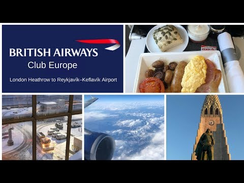 British Airways CLUB Europe in 4K, Lon. HEATHROW to REYKJAVI