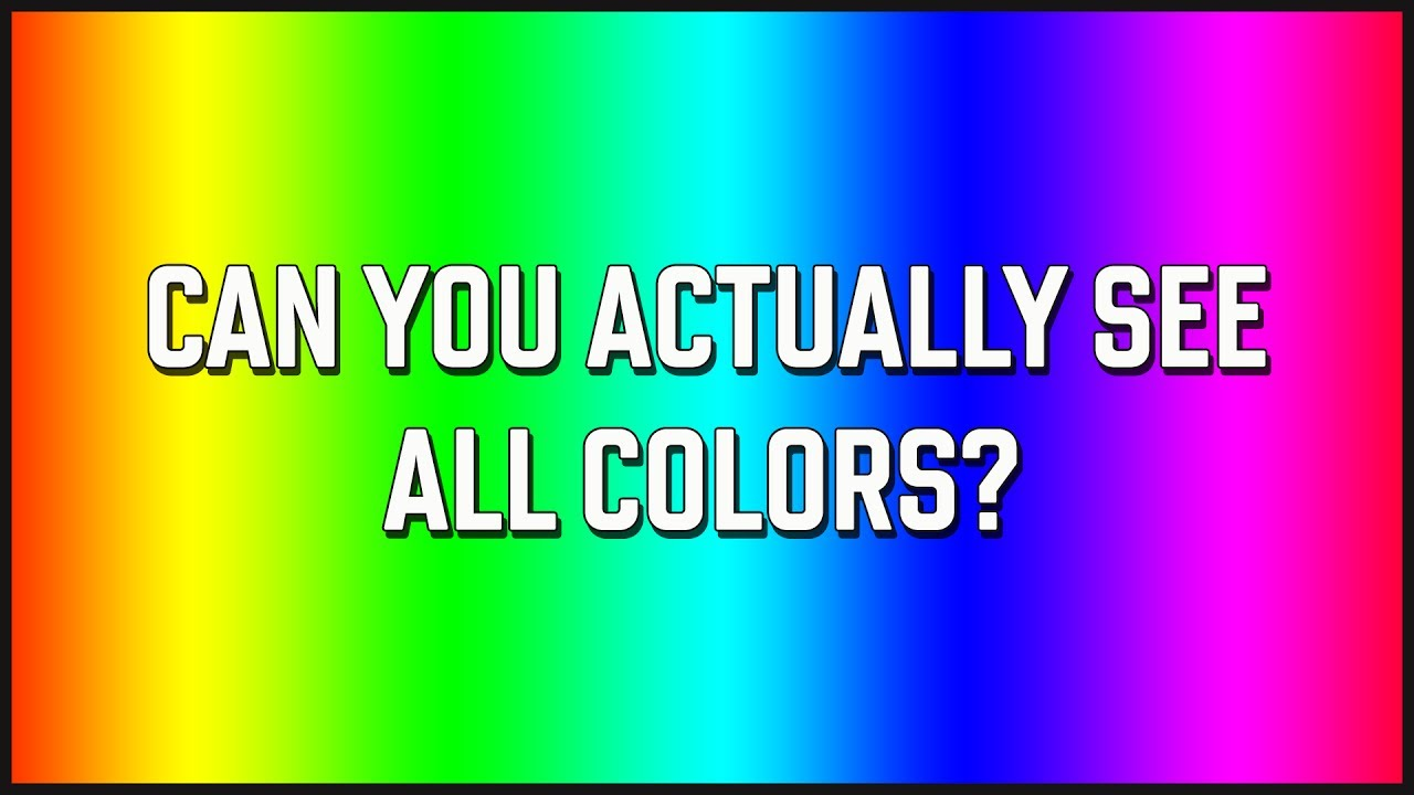 Color Blind Test - Can You Actually See All The Colors? - YouTube