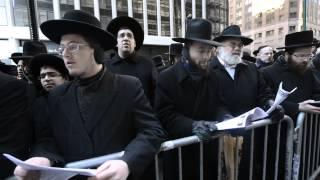 50,000 Satmar Jews Protest Against Israel Military Draft