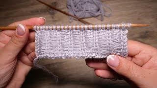 Узор с протяжками спицами | Broaches knitting pattern