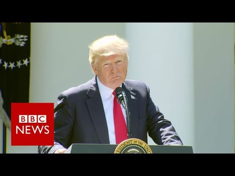 Trumps pulls US out of Paris climate deal - BBC News