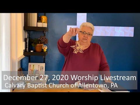 December 27, 2020 Worship Livestream