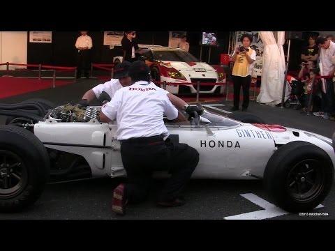 Honda Formula One RA272 Engine Start Up & Revving - Loud Exhaust Sound