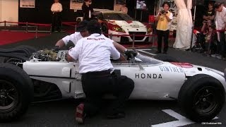 Honda Formula One RA272 Engine Start Up & Revving - Loud Exhaust Sound