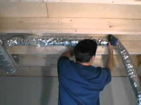 How To Cut Connect And Install Flex Duct Flexible Pipe