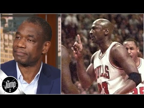 Dikembe Mutombo on that time Michael Jordan gave him the finger wag | The Jump