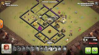 UNBELIEVABLE TH8 WAR BASE ANTI 3 STAR WITH 6 REPLAYS