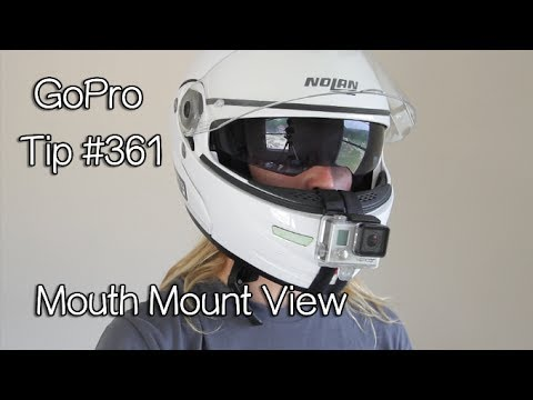 GoPro Mouth Mount View On Motorcycle Helmet - GoPro Tip #361