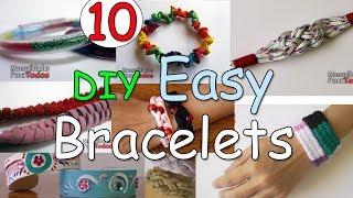 10 DIY EASY Bracelets - Ana | DIY Crafts