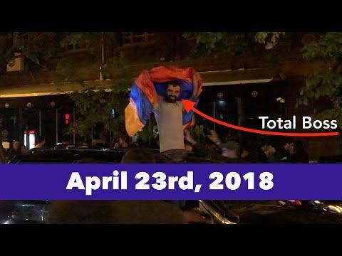 Serzh Sargsyan Resignation Celebration On April 23rd, 2018 In Yerevan, Armenia