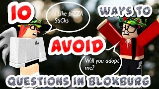 10 ways to AVOID QUESTIONS IN BLOXBURG| ADOPTION/DONATION| Roblox DONT WEAR EARBUDS