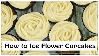 How To Ice Flower Cupcakes| Gingerbread Cupcakes