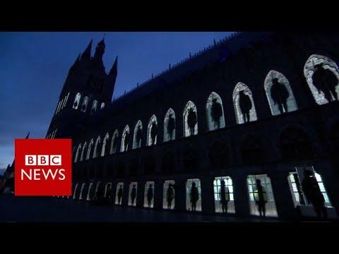 Passchendaele 100: Stunning light display marks anniversary - BBC News