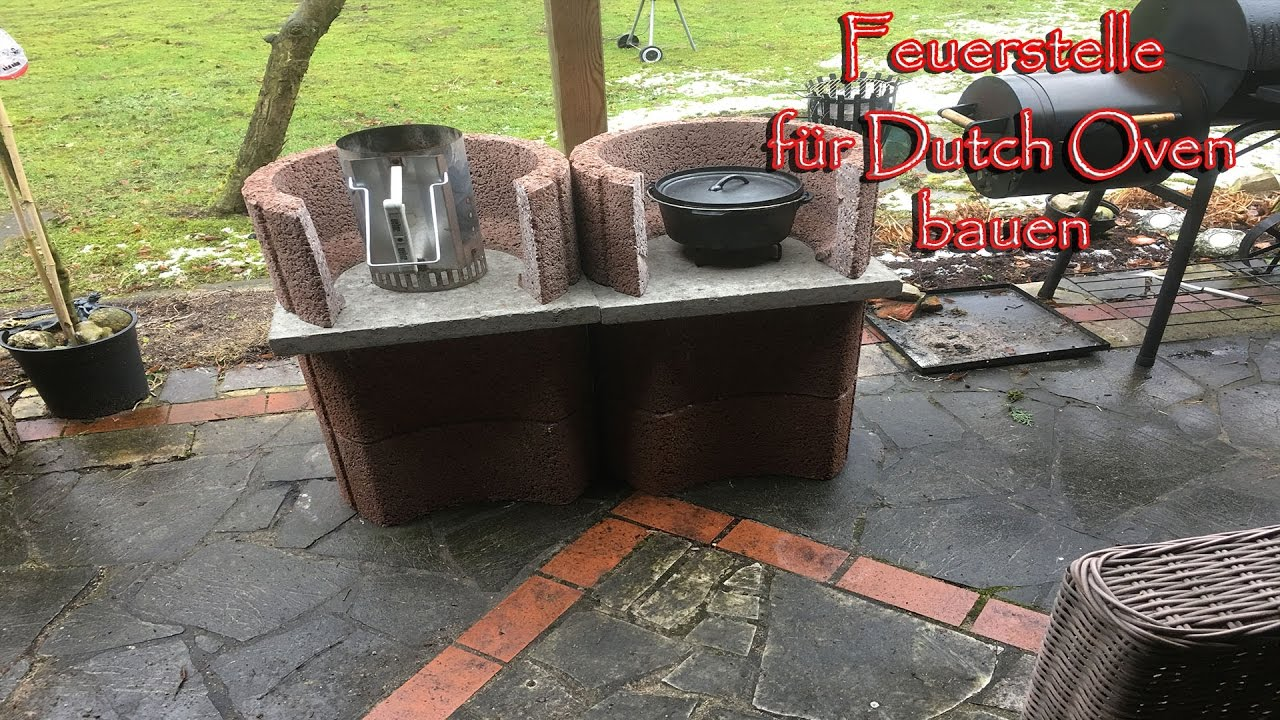 feuerstelle f r den dutch oven bauen youtube. Black Bedroom Furniture Sets. Home Design Ideas