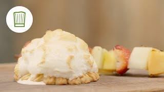 Eisbombe vom Grill mit Fruchtpspieß | Chefkoch.de