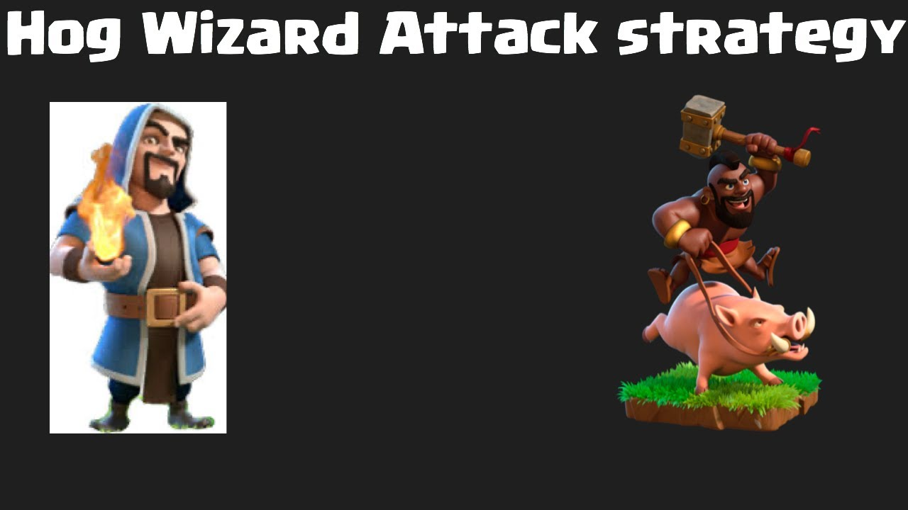 CoC Attack Strategy Hog Wizard - YouTube