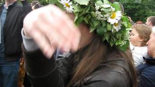 Dancing elephant song around Maypole Skansen 2014