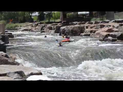 Tubing Down the Rapids of the Platte River at Confluence Park, Denver