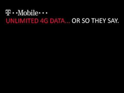 T-Mobile 4G Unlimited is REALLY Unlimited