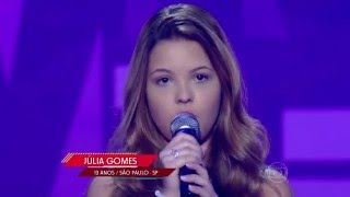 Júlia Gomes canta 'Listen' no The Voice Kids - Audições|1ª Temporada