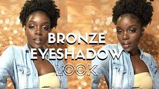 Simple Bronze Makeup Tutorial for Dark Skin | PFG