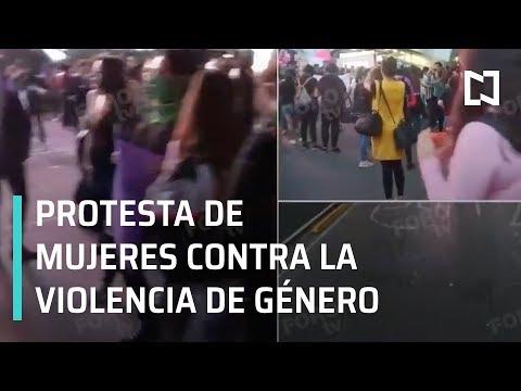 Protesta de mujeres contra la violencia de género