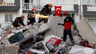 Death toll rises in Aegean earthquake as rescue teams race to reach survivors