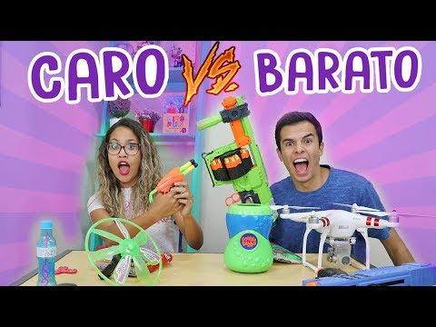 CARO VS BARATO! - BRINQUEDOS! - KIDS FUN