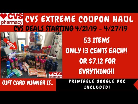 CVS EXTREME COUPON HAUL Deals Starting 4/21/19~53 Items Only .13 CENTS~Amazing FREE & CHEAP DEALS ❤️