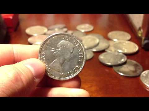 Junk silver canadian $1 and 50 cent coins