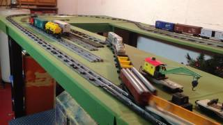American Flyer Diesel train layout  S-Gauge track and turnout