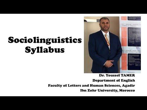 Sociolinguistics Syllabus