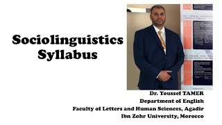 Sociolinguistics Syllabus