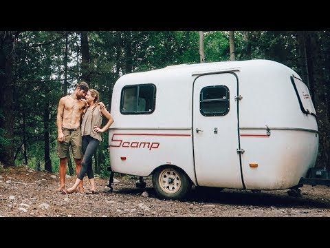 We Live in the FOREST // 13ft Scamp Trailer