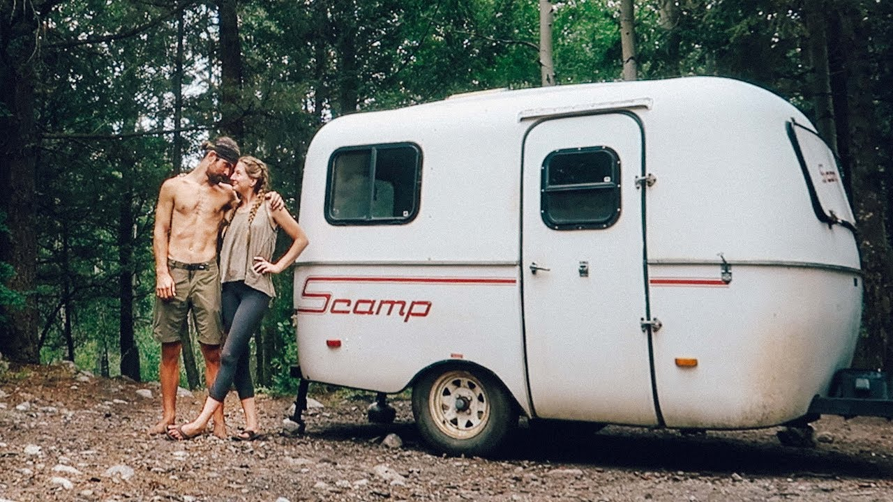 We Live In The Forest 13ft Scamp Trailer Youtube