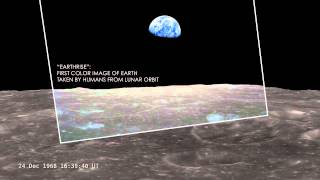 Famous First Earthrise Over Moon Recreated - Orbiter Data Video