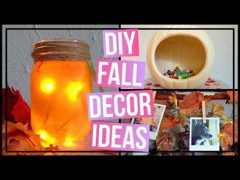 3 Easy DIY Fall Decor Ideas | DIY Leaf Garland, DIY Pumpkin Jar, & a Pumpkin Candy Bowl