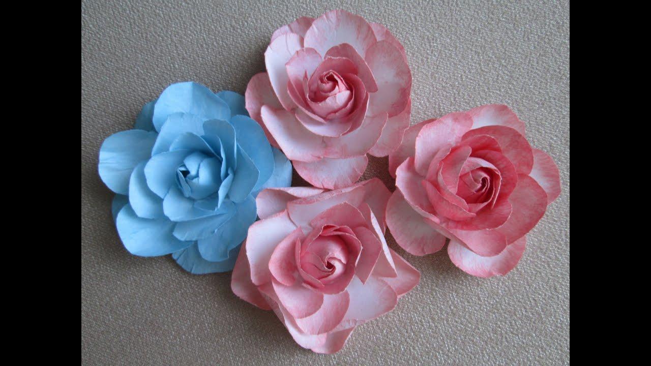 Как сделать цветок из бумаги скрапбукинг фото 852