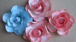 Скрапбукинг Цветы из бумаги с закрытым бутоном Видео мастер-класс как сделать розу(Видео о том как сделать цветы из бумаги для скрапбукинга без сложностей и специальных инструментов. Красив..., 2016-04-09T18:19:00.000Z)