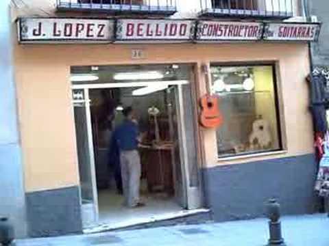 Famous Guitar builder J. Lopez Bellido in Granada
