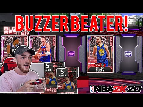 NEW *BUZZER BEATER* PACK OPENING! GALAXY OPAL STEPH CURRY! (NBA 2K20 MYTEAM)