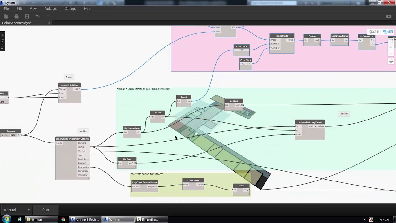 3d Color Schemes In Revit Using Dynamo Youtube