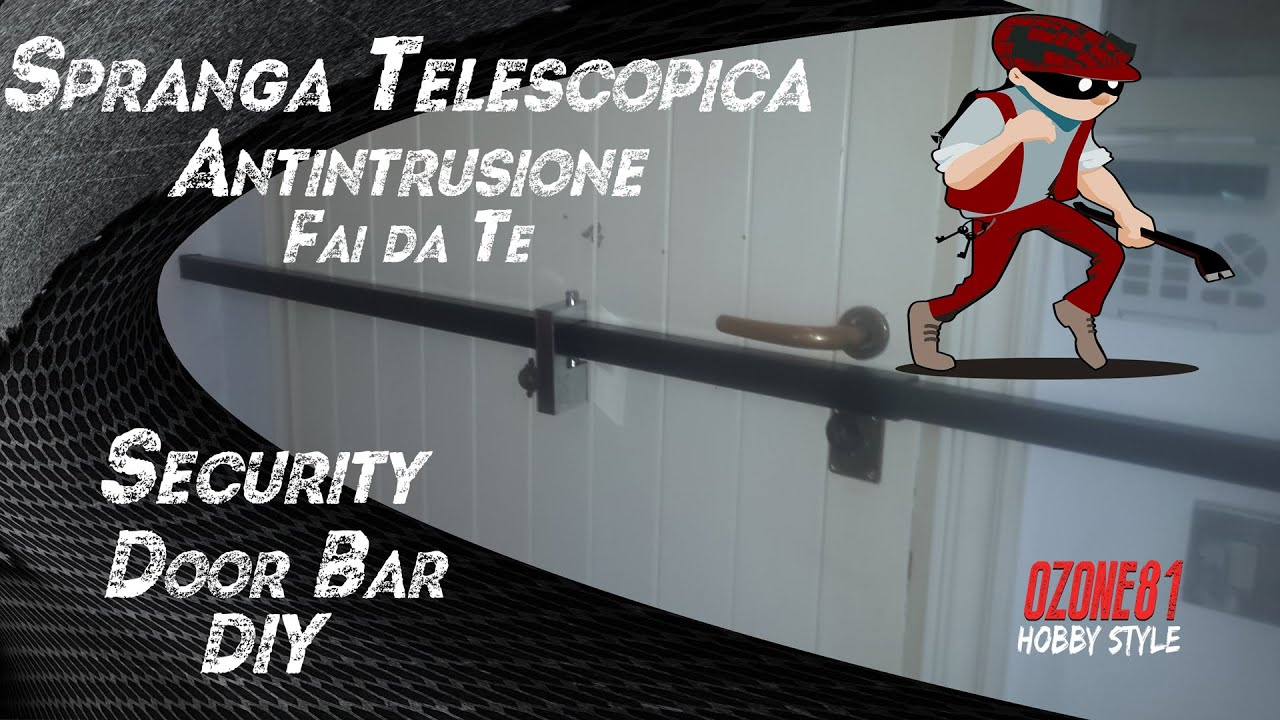 spranga telescopica antintrusione security door bar diy