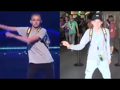 Backpack Kid Creates NEW Viral Dance Move
