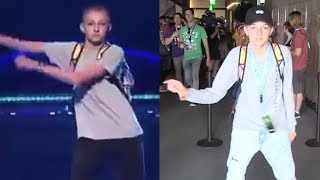 Backpack Kid Creates NEW Viral Dance Move 'The Money Dance'