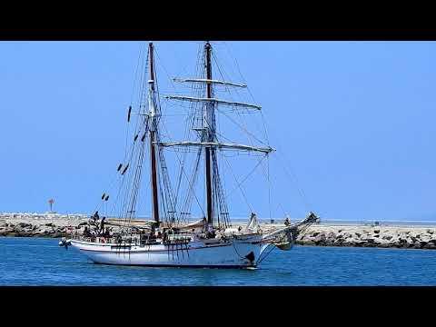 A Nice Yacht Sailing The Marina