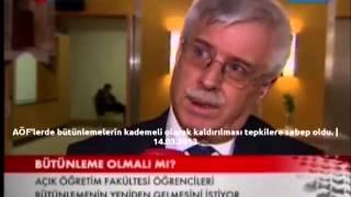 AÖF'lerde bütünlemelerin kademeli olarak kaldırılması tepkilere sebep oldu. 14.03.2013 TRT Haber