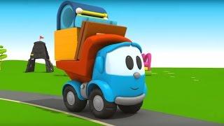 Leo Junior baut einen Bahnhof - Der kleine Zug braucht eine Bahnstation - 3D Cartoon in deutsch