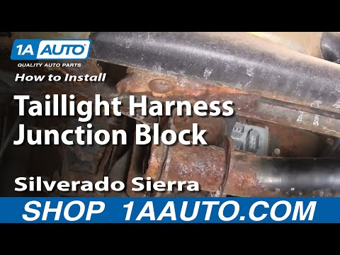 how to replace tail light combination junction block 99-04 gmc sierra 2500  - youtube