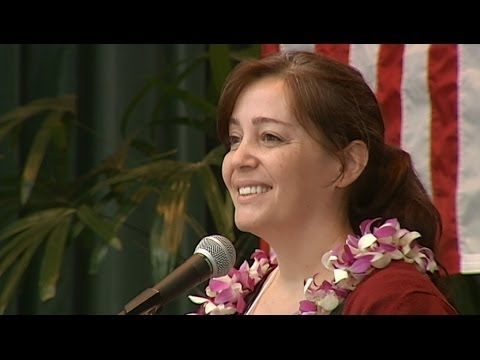 Rep. Nicole Lowen at Hawaii County Democratic Convention in Hilo
